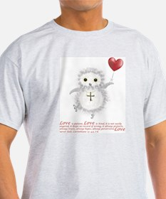 Flying Valentine With Corinthians 13 T-Shirt