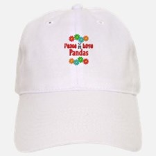 Peace Love Pandas Baseball Baseball Cap