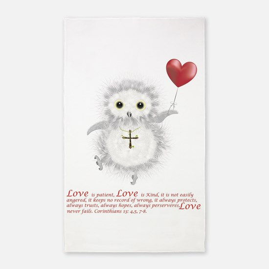 Flying Valentine With Corinthians 13: 4,5 Area Rug