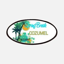 Palm Trees Circles Spring Break COZUMEL Patches
