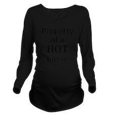 Property of a HOT nu Long Sleeve Maternity T-Shirt