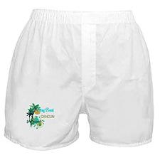 Palm Trees Circles Spring Break CANC Boxer Shorts
