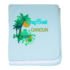 Palm Trees Circles Spring Break CANC baby blanket