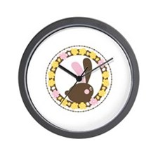 Easter Rabbit Wall Clock