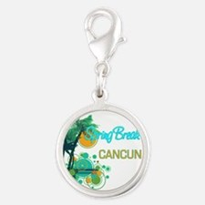 Palm Trees Circles Spring Break CANCUN Charms