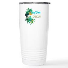 Palm Trees Circles Spr Travel Mug