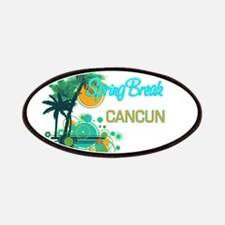 Palm Trees Circles Spring Break CANCUN Patches
