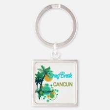 Palm Trees Circles Spring Break CANCUN Keychains