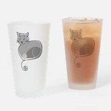 Whimsical Cat Drinking Glass
