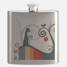 Whimsical and Birds Flask