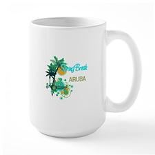 Palm Trees Circles Spring Break ARUBA Mugs