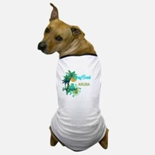 Palm Trees Circles Spring Break ARUBA Dog T-Shirt