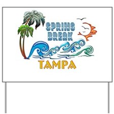 3D Palms Waves Sunset Spring Break TAMPA Yard Sign