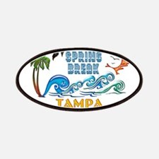 3D Palms Waves Sunset Spring Break TAMPA Patches