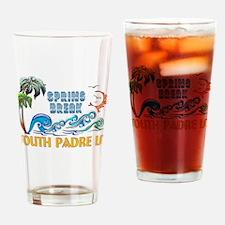 3D Palms Waves Sunset Spring Break Drinking Glass