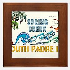 3D Palms Waves Sunset Spring Break S P Framed Tile