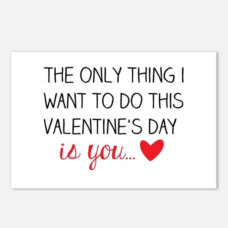 Naughty Valentine Postcards (Package of 8)