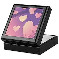 purple grad hearts Keepsake Box