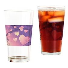 purple grad hearts Drinking Glass