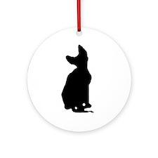 cornish rex silhouette Ornament (Round)