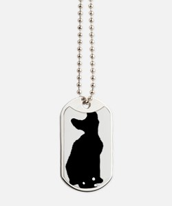 cornish rex silhouette Dog Tags