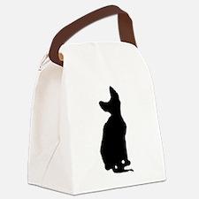 cornish rex silhouette Canvas Lunch Bag