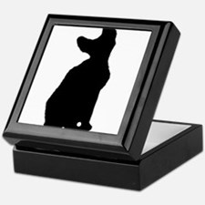 cornish rex silhouette Keepsake Box