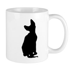 cornish rex silhouette Mugs
