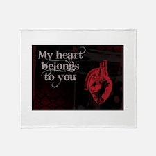 Gothic Valentine Throw Blanket