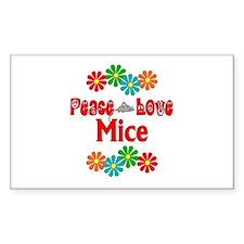 Peace Love Mice Decal