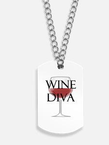 Wine Diva Dog Tags