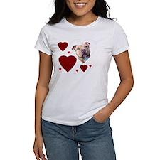 Valentine's Pitbull dog Tee