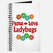 Peace Love Ladybugs Journal