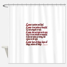 1 Corinthians 13:4-7 Shower Curtain