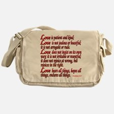 1 Corinthians 13:4-7 Messenger Bag
