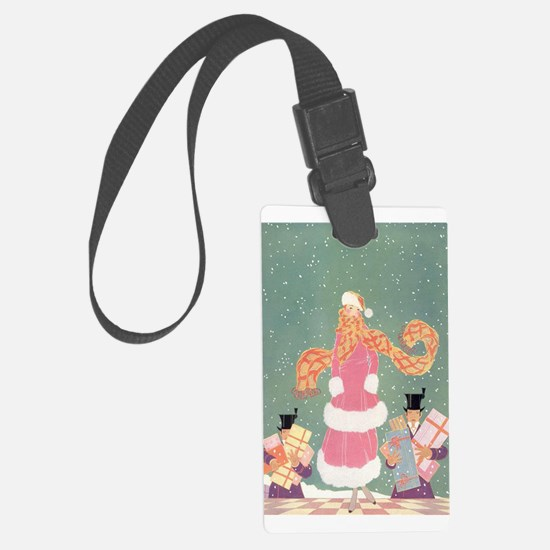 Christmas Shopping in the City Luggage Tag