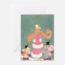 Christmas Shopping in the City Greeting Card