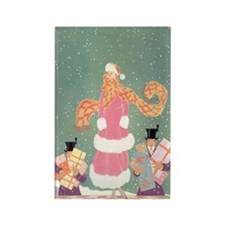 Christmas Shopping in Rectangle Magnet (100 pack)