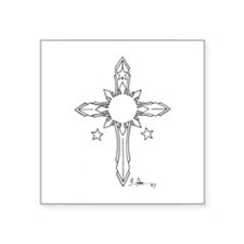 "Cute Religione Square Sticker 3"" x 3"""