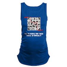Crossword Difficult Maternity Tank Top