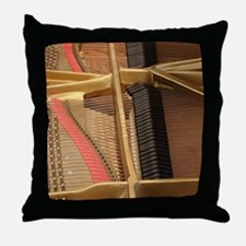 Inside a Piano Throw Pillow