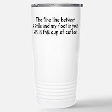 Fine line between Travel Mug
