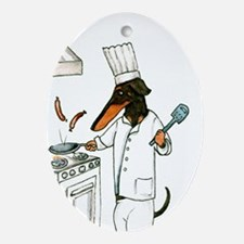 Chef Oval Ornament
