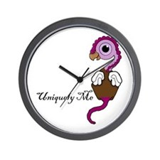 Purple Squite (Pocket Gryphon) Uniquely Wall Clock