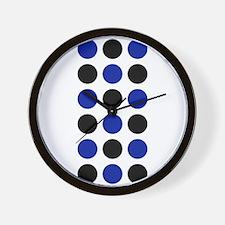 Black Blue Spot Designer Wall Clock