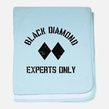 Black diamond baby blanket