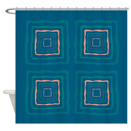Pink And Blue Doyle Shower Curtain By CopperCreekDesignStudio