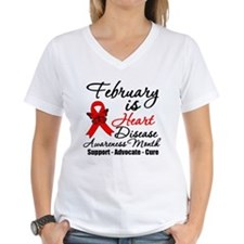 Heart Disease Red Ribbon Shirt