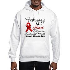 Heart Disease Red Ribbon Hoodie