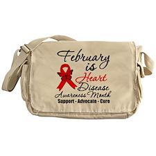 Heart Disease Red Ribbon Messenger Bag